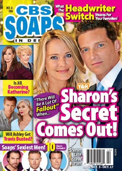 CBS Soaps In Depth Cover - 10/17/2016