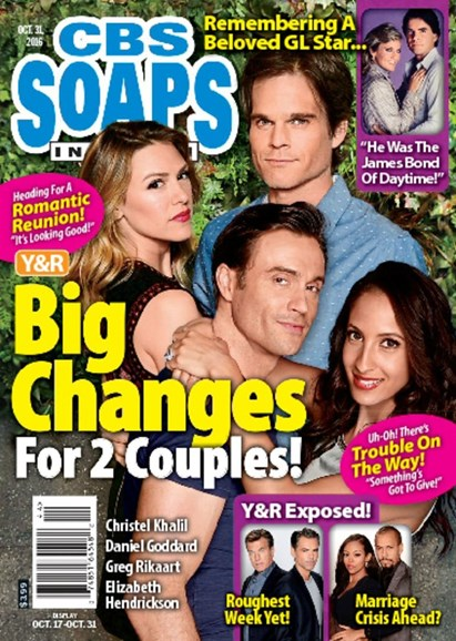 CBS Soaps In Depth Cover - 10/31/2016