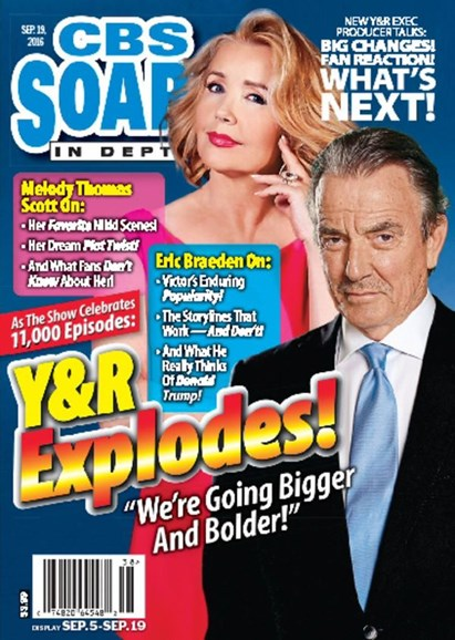 CBS Soaps In Depth Cover - 9/19/2016