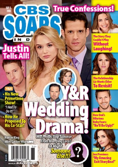 CBS Soaps In Depth Cover - 9/5/2016