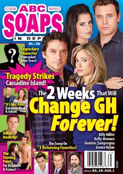ABC Soaps In Depth Cover - 8/1/2016