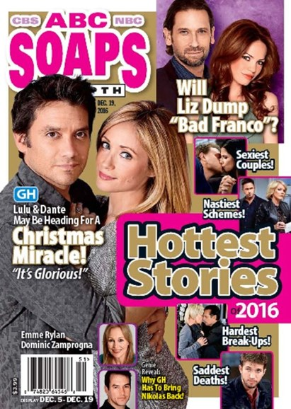 ABC Soaps In Depth Cover - 12/19/2016