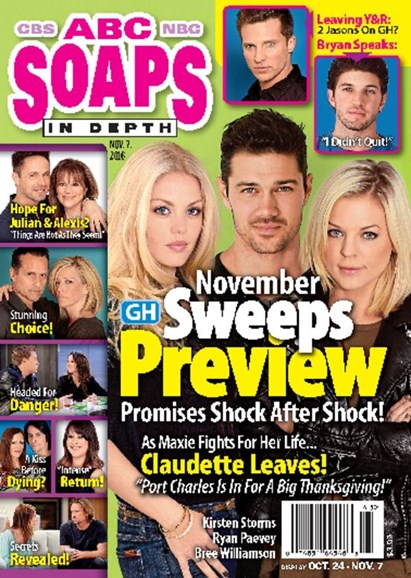 ABC Soaps In Depth Cover - 11/7/2016