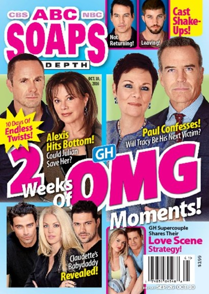 ABC Soaps In Depth Cover - 10/10/2016