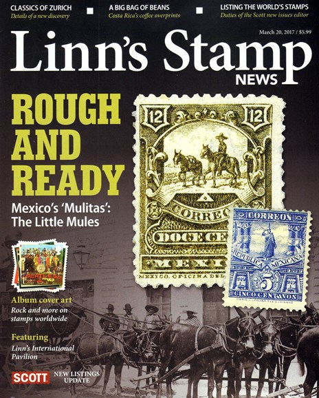 Linn's Stamp News Monthly Cover - 3/1/2017