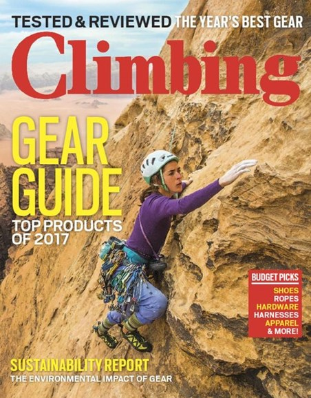 Climbing Magazine Cover - 4/1/2017