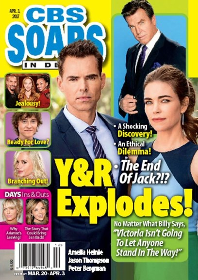 CBS Soaps In Depth Cover - 4/3/2017