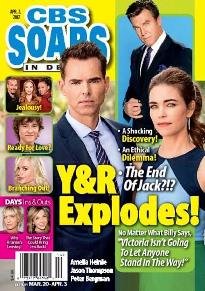 CBS Soaps In Depth Cover - 4/3/2017