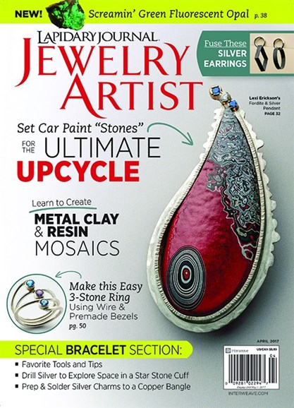 Lapidary Journal Jewelry Artist Cover - 4/1/2017