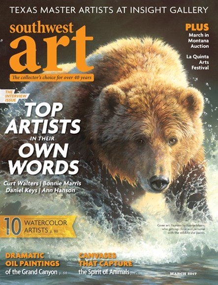 Southwest Art Cover - 3/1/2017
