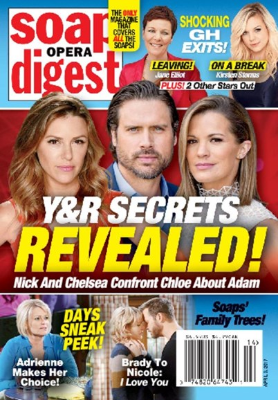 Soap Opera Digest Cover - 4/3/2017