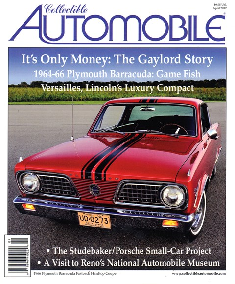 Collectible Automobile Cover - 4/1/2017