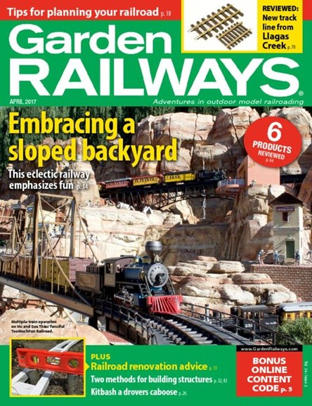 Garden Railways Cover - 4/1/2017