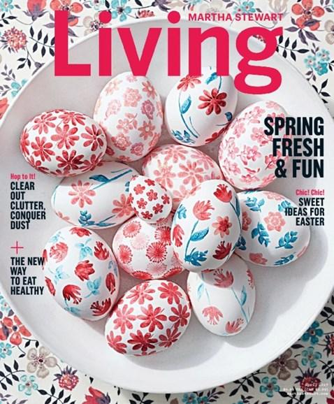 Martha Stewart Living Cover - 4/1/2017