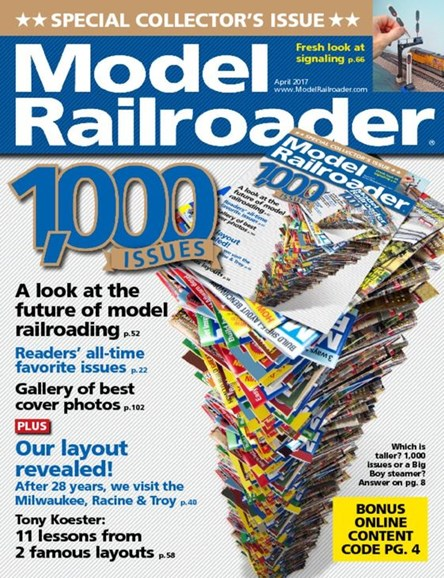 Model Railroader Cover - 4/1/2017