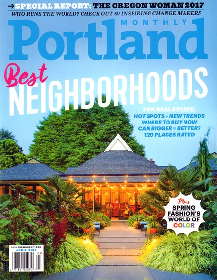 Portland Monthly Cover - 4/1/2017