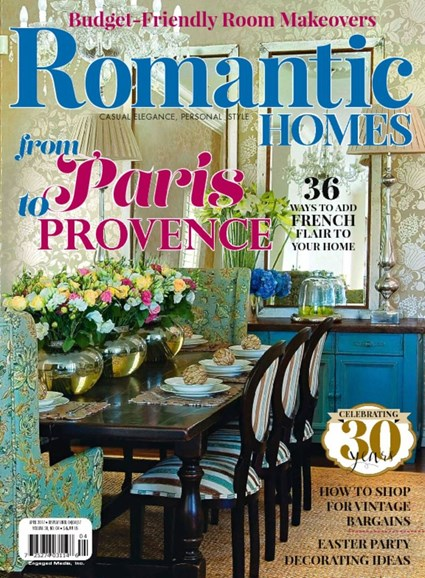 Romantic Homes Cover - 4/1/2017