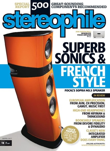 Stereophile Cover - 4/1/2017