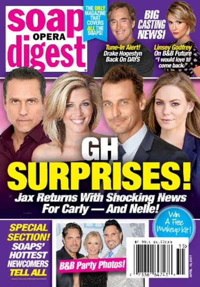 Soap Opera Digest Cover - 4/10/2017