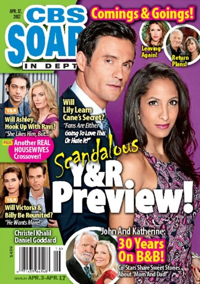 CBS Soaps In Depth Cover - 4/14/2017