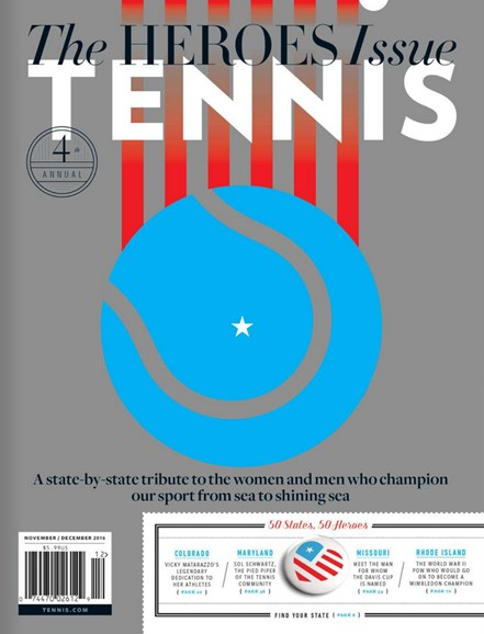 Tennis Magazine Cover - 11/1/2016