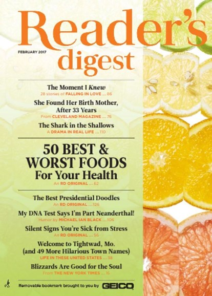 Reader's Digest Cover - 2/1/2017