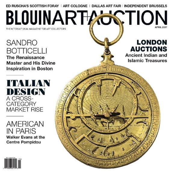 Blouin Art & Auction Cover - 4/1/2017