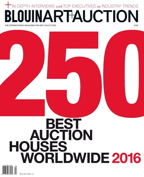 Blouin Art & Auction Cover - 8/1/2016