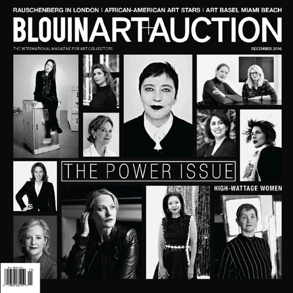 Blouin Art & Auction Cover - 12/1/2016