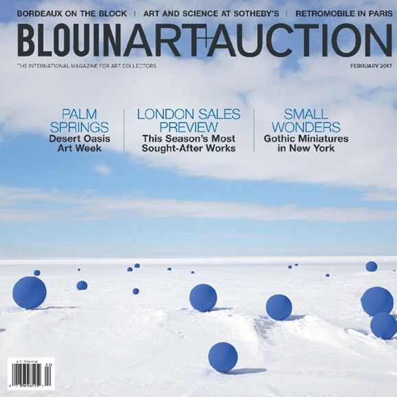 Blouin Art & Auction Cover - 2/1/2017