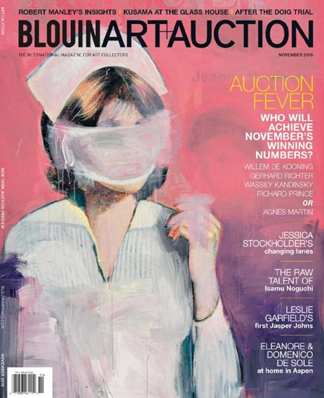 Blouin Art & Auction Cover - 11/1/2016