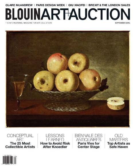 Blouin Art & Auction Cover - 9/1/2016