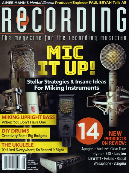 Recording Magazine Cover - 5/1/2017