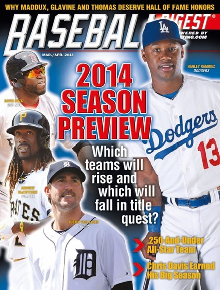 Baseball Digest Cover - 3/1/2014