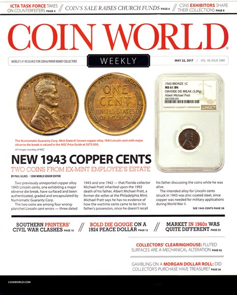 Coin World Weekly Cover - 5/22/2017