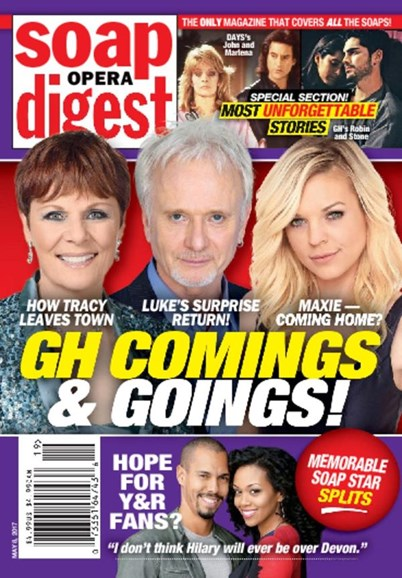 Soap Opera Digest Cover - 5/8/2017