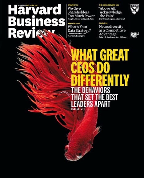 Harvard Business Review Cover - 5/1/2017
