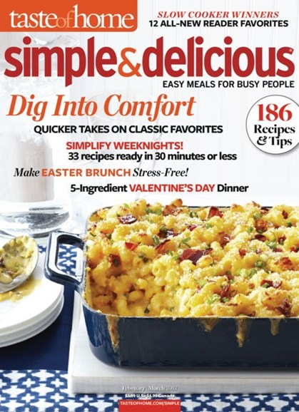 Simple & Delicious Cover - 2/1/2013