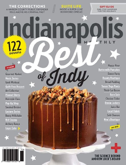 Indianapolis Monthly Cover - 12/1/2015