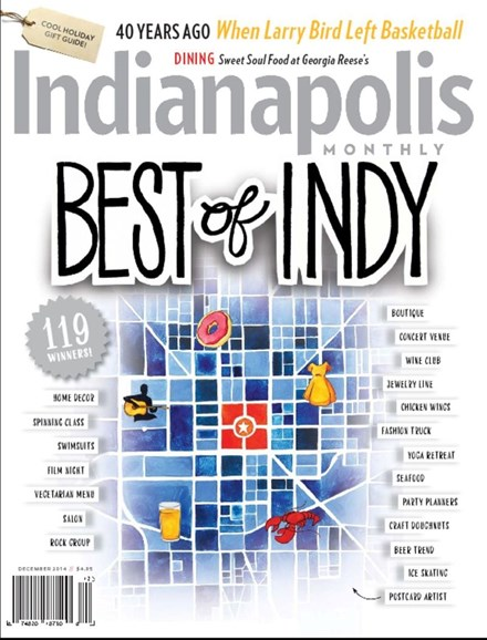 Indianapolis Monthly Cover - 12/1/2014