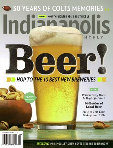 Indianapolis Monthly Cover - 9/1/2014