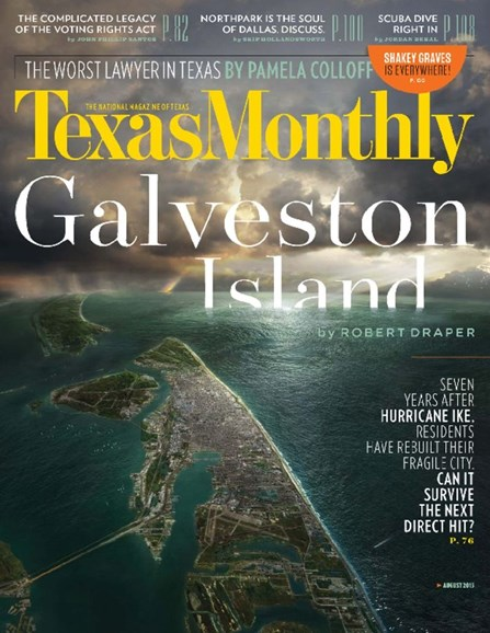 Texas Monthly Cover - 8/1/2015