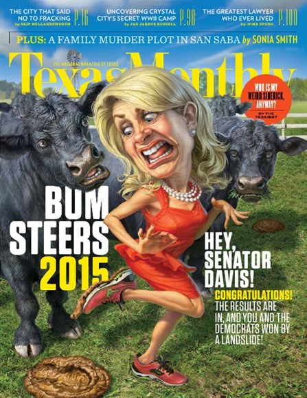 Texas Monthly Cover - 1/1/2015