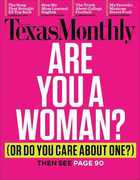 Texas Monthly Cover - 8/1/2012