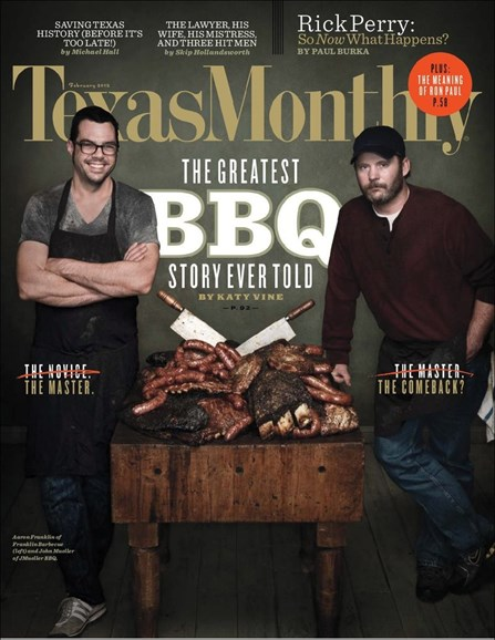 Texas Monthly Cover - 2/1/2012