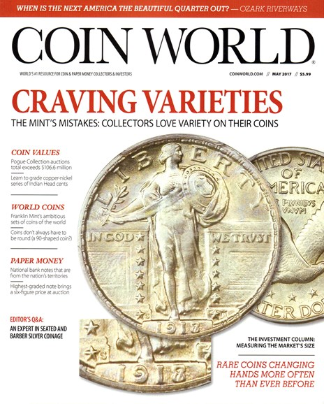 Coin World Weekly Cover - 5/1/2017