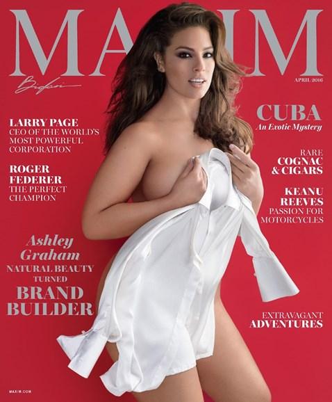 Maxim Cover - 4/1/2016