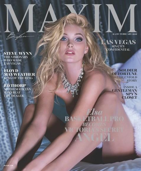 Maxim Cover - 2/1/2016