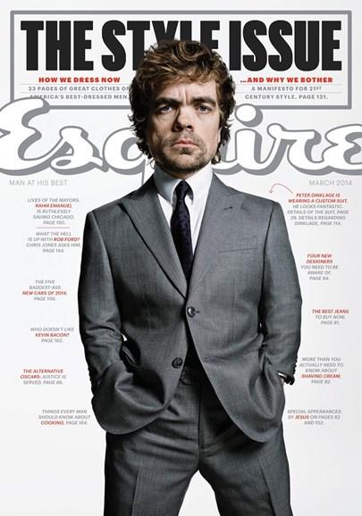 Esquire Cover - 3/1/2014
