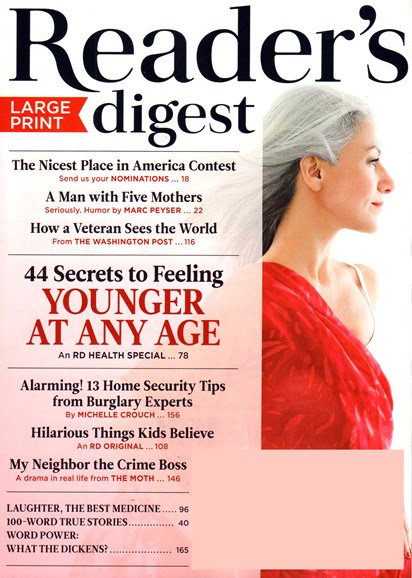 Reader's Digest - Large Print Edition Cover - 5/1/2017